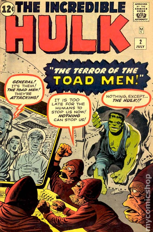 Image result for incredible hulk 2 cover 1962