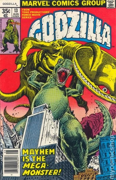 Godzilla 1977 Marvel Comic Books