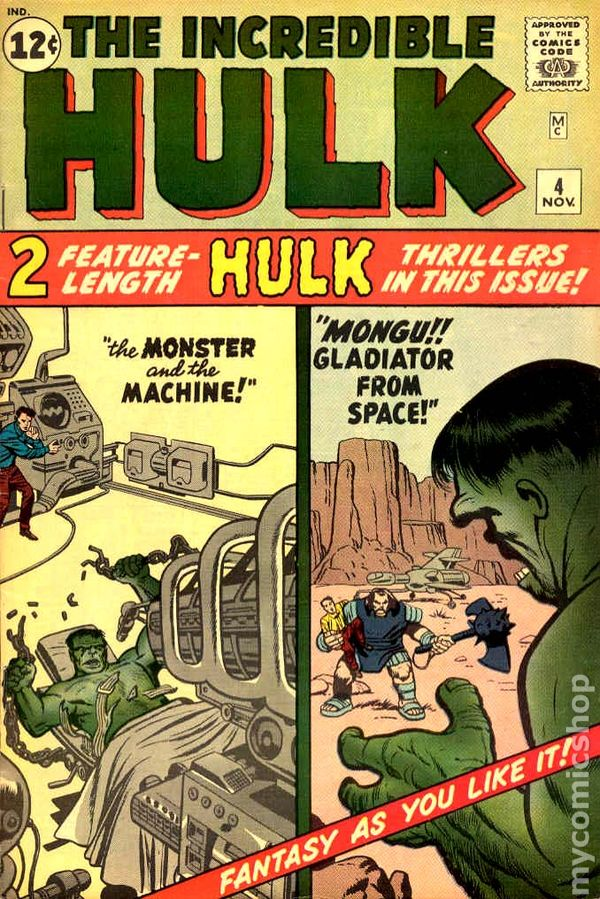 Image result for incredible hulk 4 cover 1962