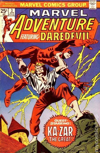 marvel adventure featuring daredevil  1975  comic books