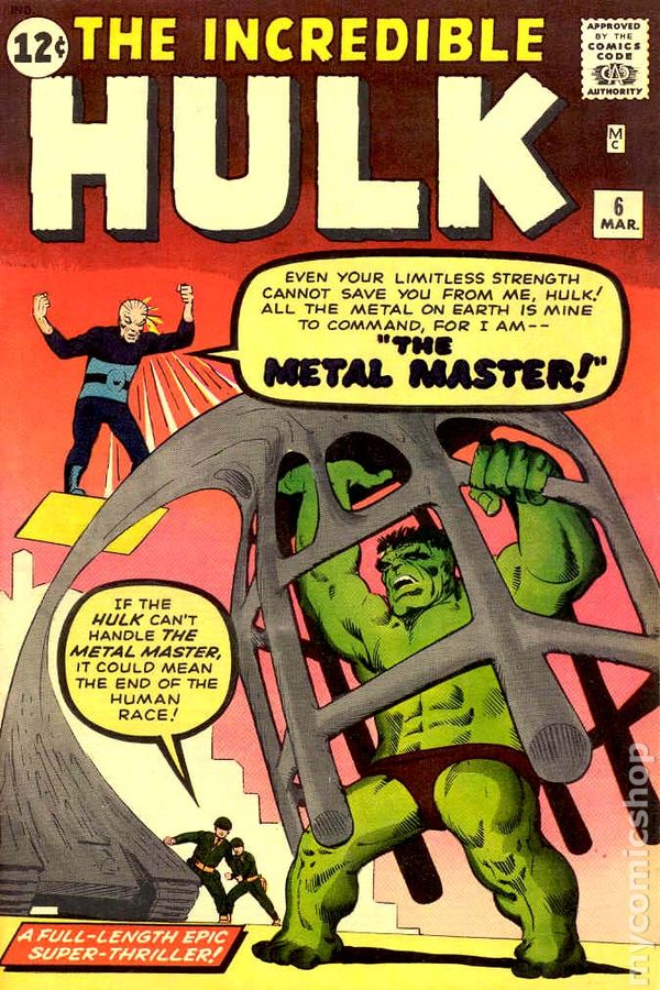 Image result for incredible hulk 6 cover 1962