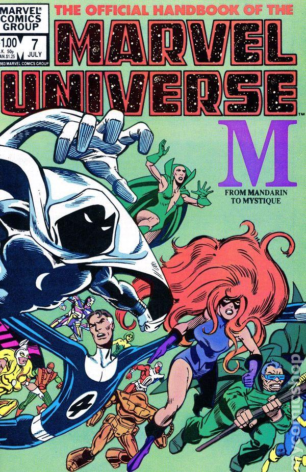 Official Handbook of the Marvel Universe (1983-1984 Marvel ...