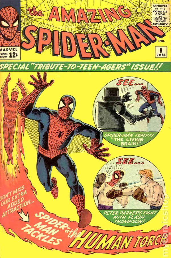 Classic Amazing Spiderman Cover Fonts And Corner Art