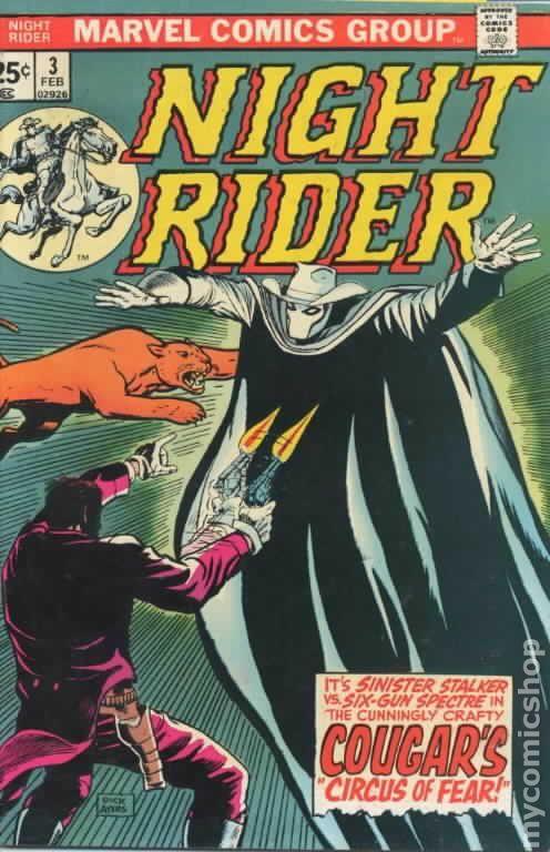 Night Rider (1974) comic books