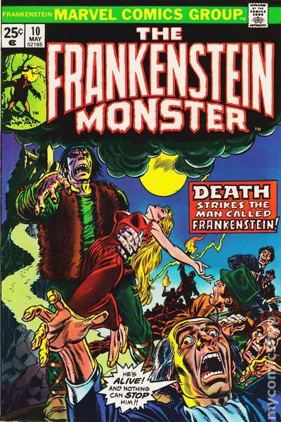 frankenstein  1973 marvel  comic books