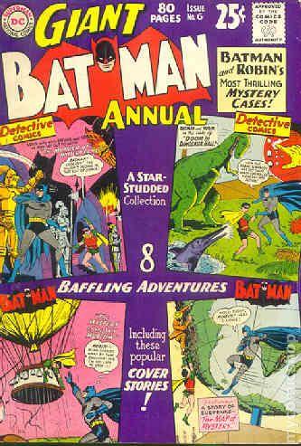 Batman 1940 Annual Comic Books 1960 1969