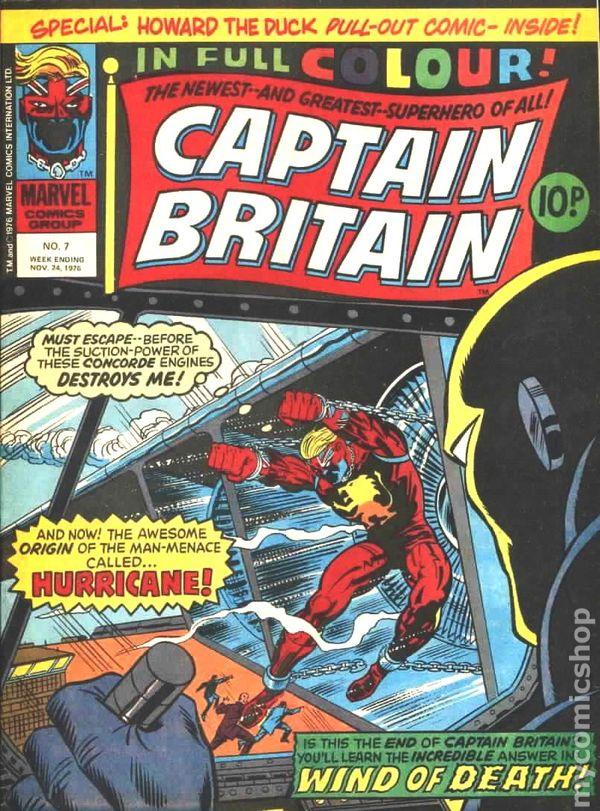 Captain Britain 1976 1977 Marvel Uk Comic Books
