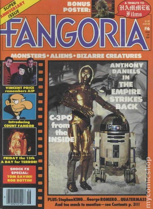 FANGORIA #1 1979 GODZILLA ISSUE  POSTER INTACT