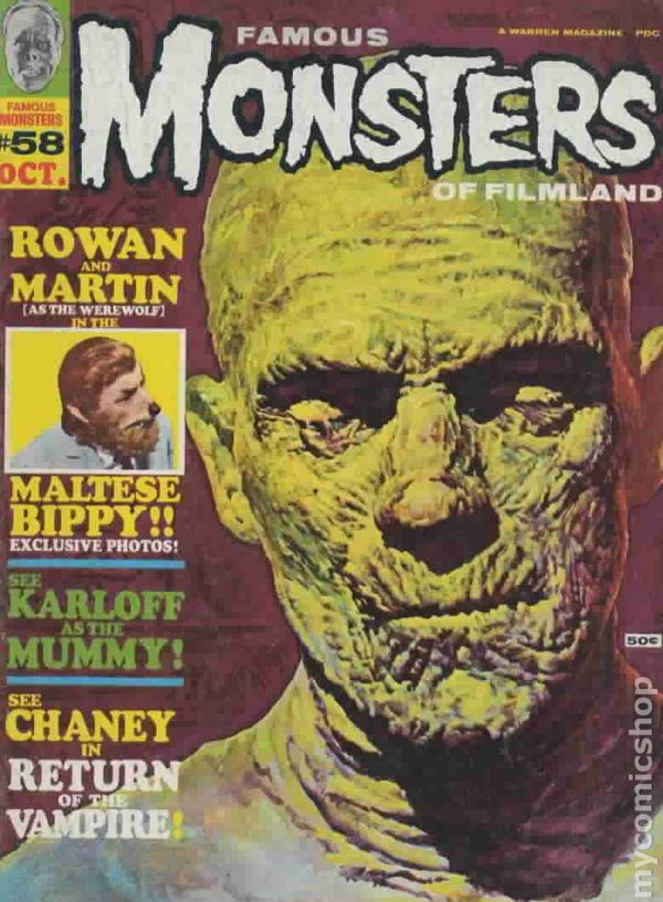 Famous Monsters Of Filmland 1958 Magazine Comic Books