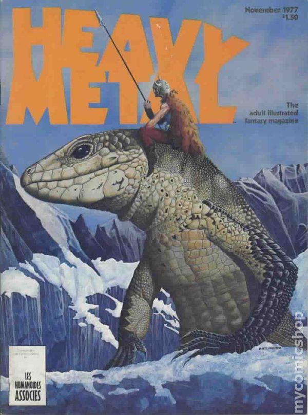 heavy metal magazine 1977 comic books