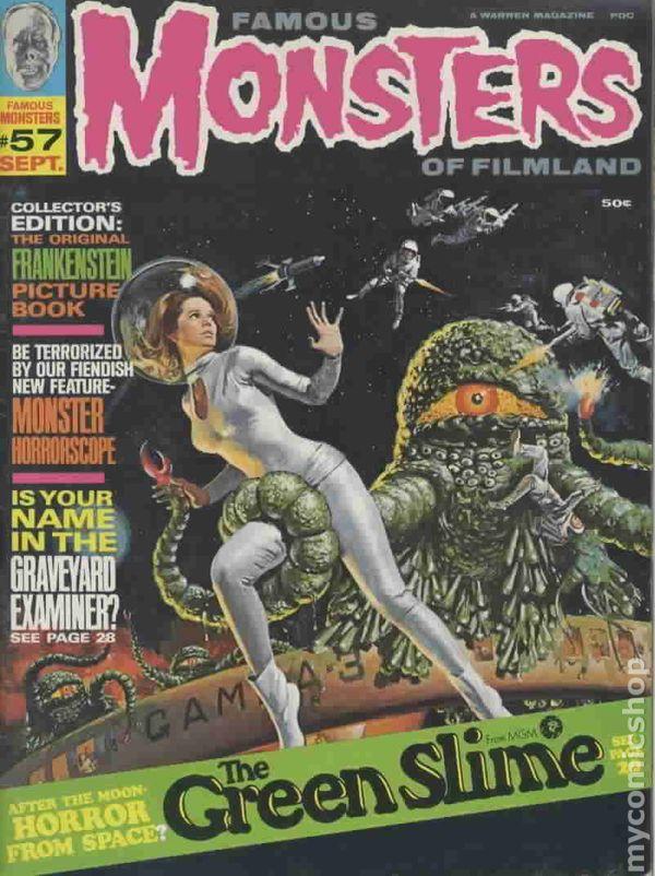 famous monsters of filmland  1958  magazine comic books