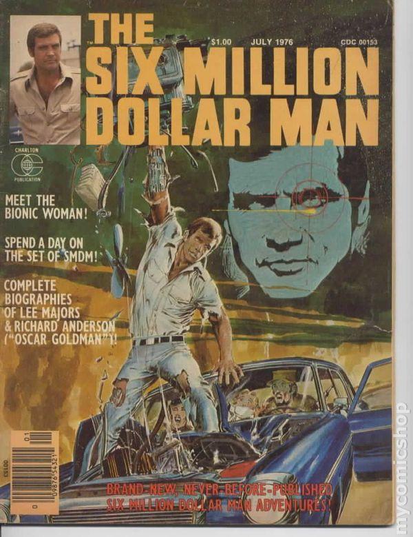 Six Of The Worst Celebrity Makeup Faux Pas: Six Million Dollar Man (1976 Magazine) Comic Books