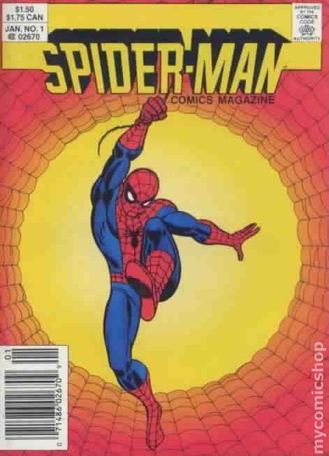 spiderman comics magazine 1987 digest comic books