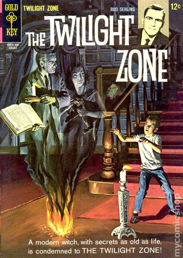 Book Cover Series Zone : Twilight zone st series dell gold key comic books