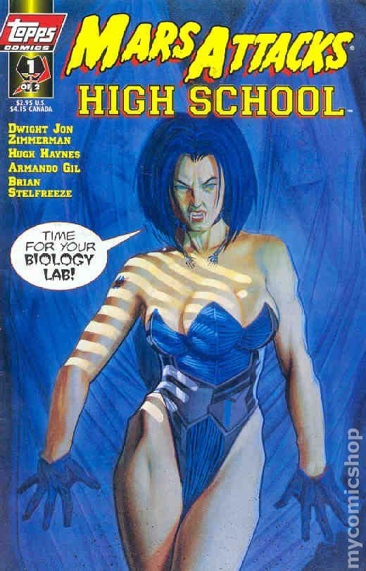 Mars Attacks High School 1997 Comic Books