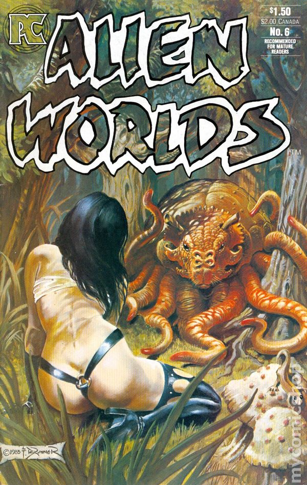 Comic Book Cover Artist Jobs ~ Alien worlds st series comic books