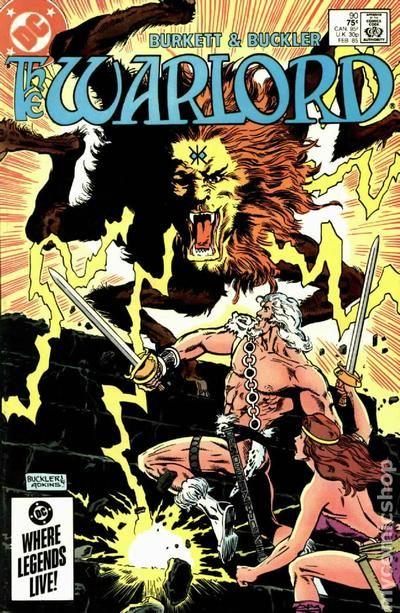 Warlord #98 FN 1985 Stock Image