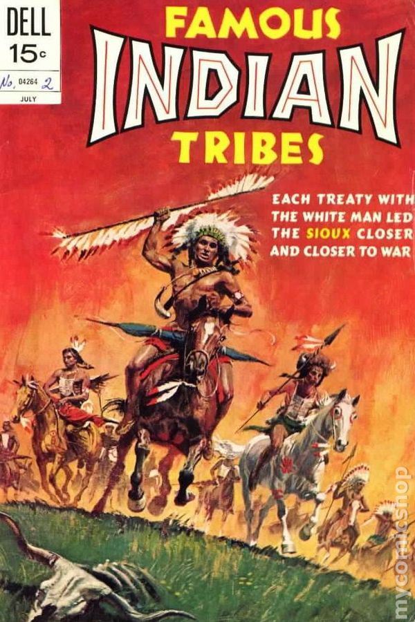 Famous Indian Tribes 1962 Comic Books-3669