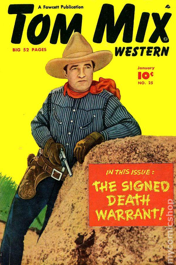 Tom Mix Western (1948 Fawcett) comic books