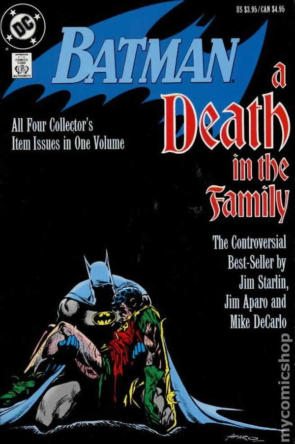 Comic books in 'Batman Death in the Family'