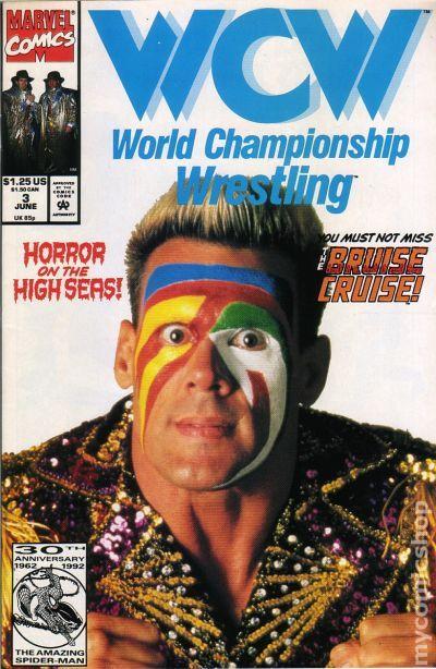 WCW World Championship Wrestling #3 1992 FN Stock Image