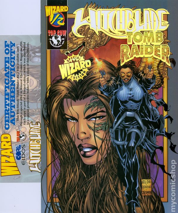 Witchblade Tomb Raider 1998 Wizard 1 2 Comic Books