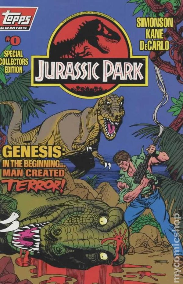 Jurassic Park 1993 Comic Books