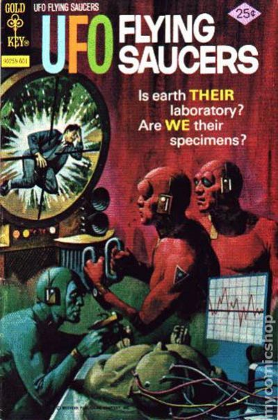 Ufo Flying Saucers 1968 Gold Key Comic Books-3212