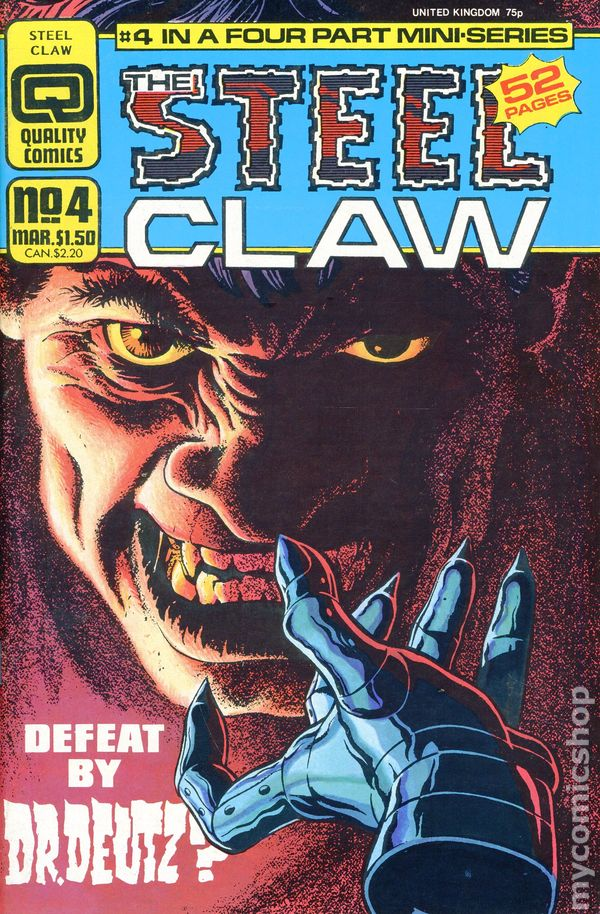Jesus Blasco Steel Claw # 1 of 4 Quality Comics USA, 1986
