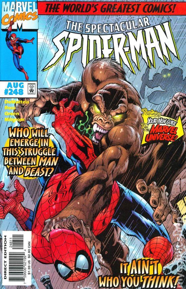 The Spectacular Spider-Man #254 February 1998 Marvel Comics DeMatteis Ross