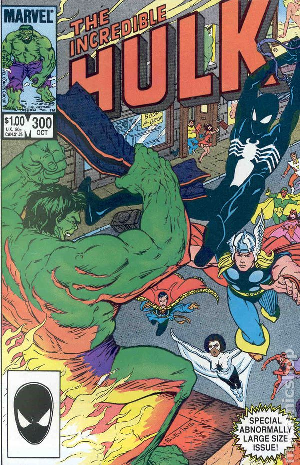 Comic books in spider man incredible hulk 1962 1999 1st series 300 fandeluxe Image collections