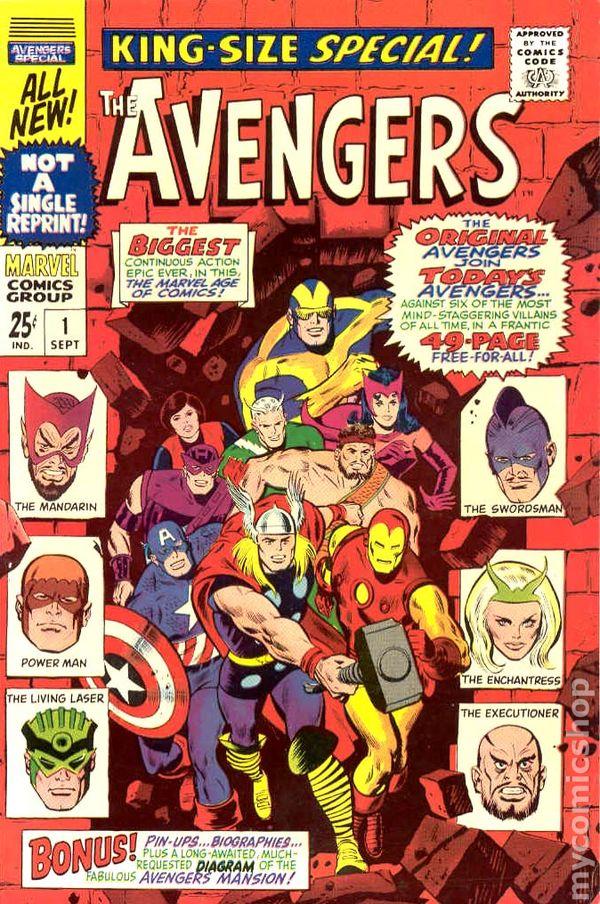 Avengers 1963 1st Series Annual Comic Books
