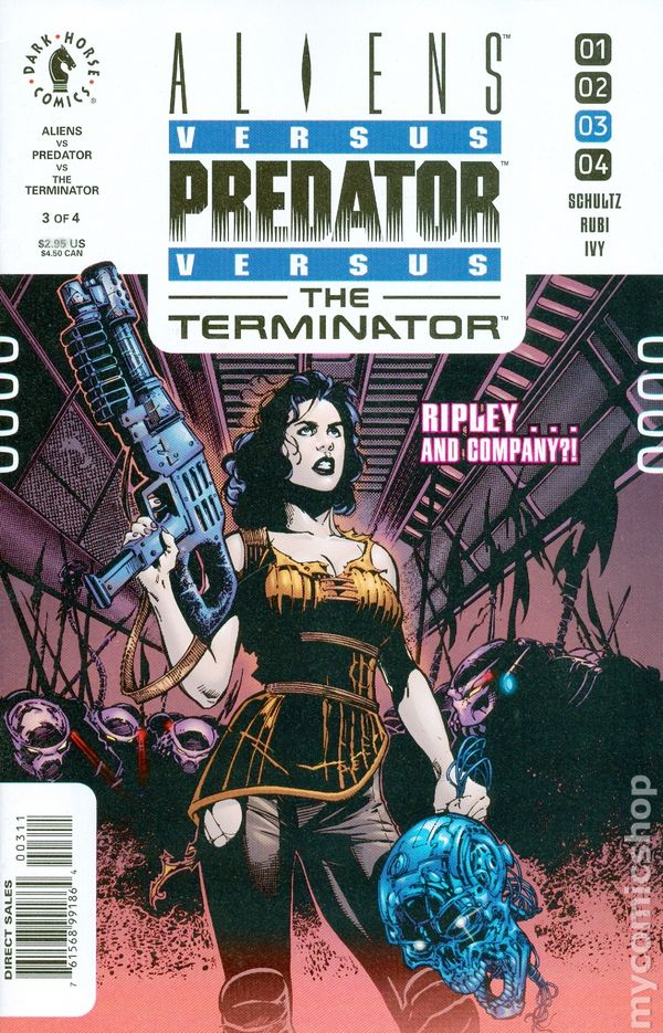 Aliens Vs Predator Vs The Terminator 2000 Comic Books