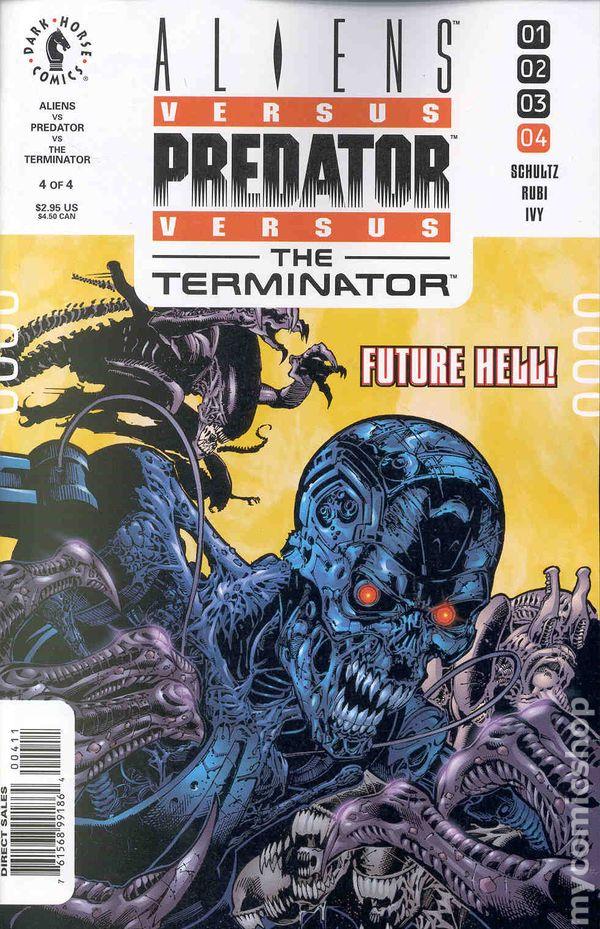 Aliens Vs Predator Vs The Terminator 2000 Comic Books
