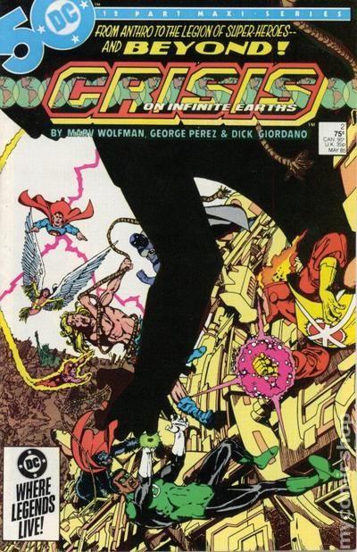 Crisis on Infinite Earths #9 FN 1985 Stock Image