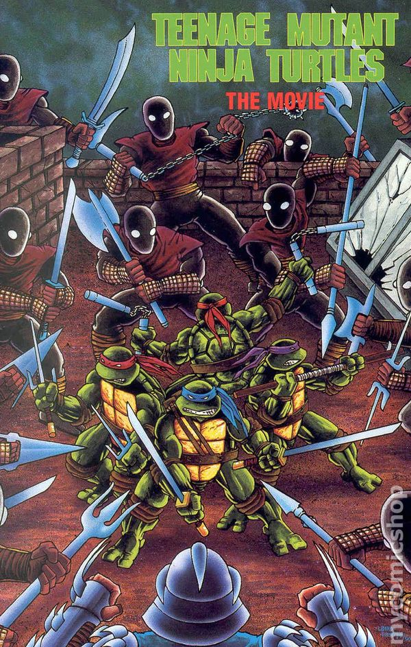 Teenage Mutant Ninja Turtles The Movie Gn 1990 Mirage Archie Comic Books