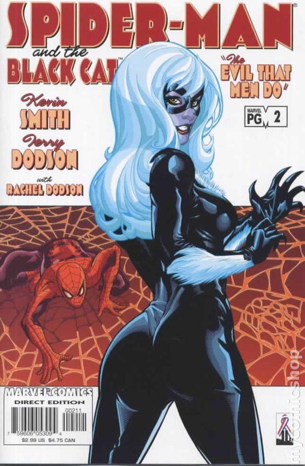 Black Cat Spider Man Comic