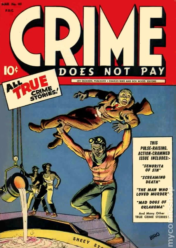 crime does not pay write an Comic urban legend: the creator of crime does not pay went to jail   comic writer/artist bob wood was always involved in the somewhat.