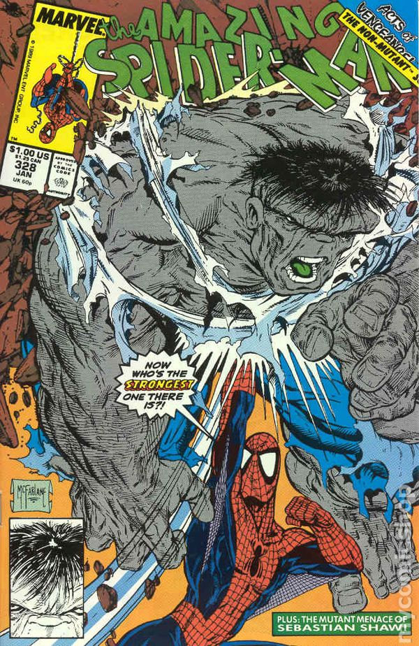 1990 Marvel Comics Direct VF//NM 1-1st Print AMAZING SPIDER-MAN #328 Vol