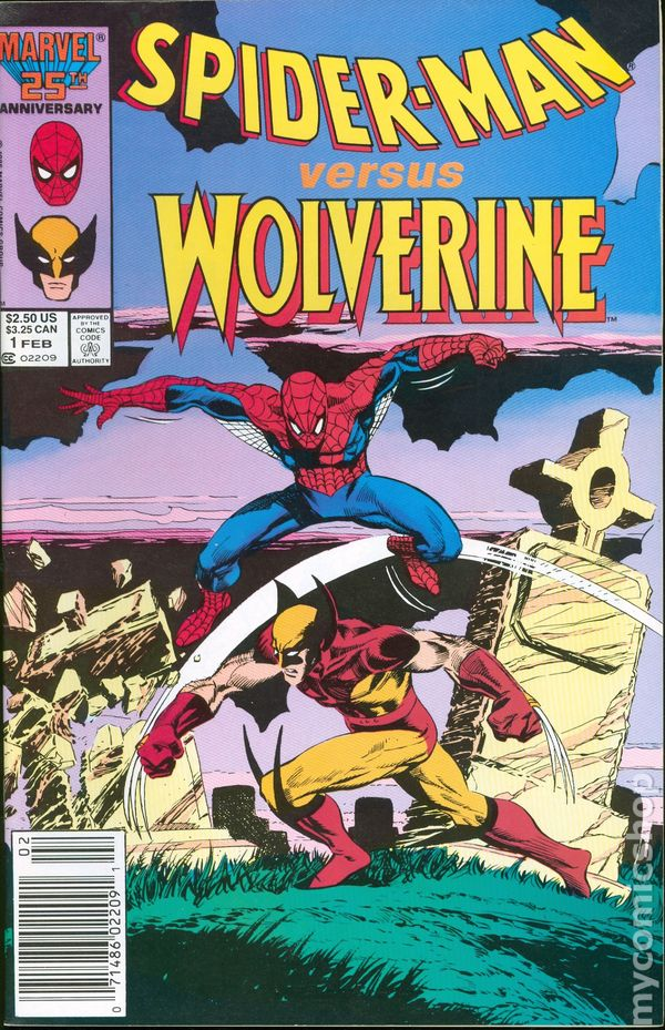 Spider Man Vs Wolverine 1987 Marvel 1st Edition Comic Books