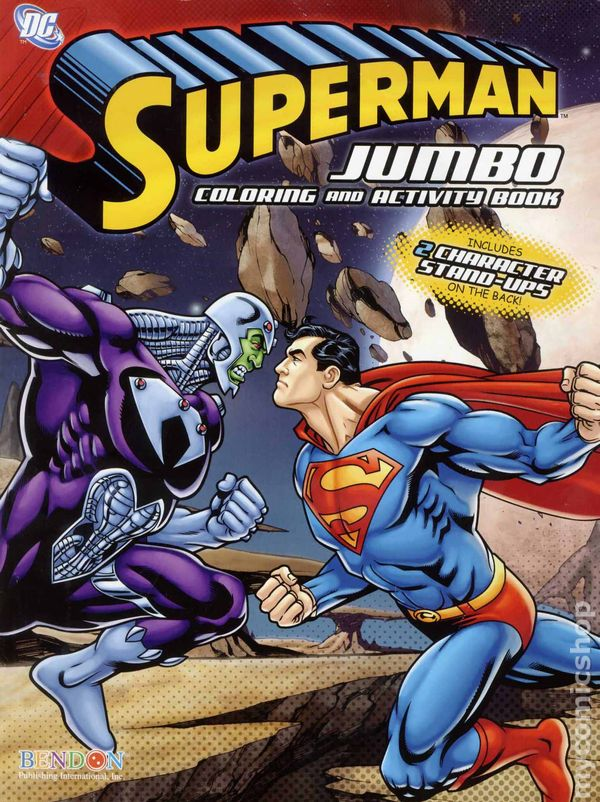 Superman Jumbo Coloring and Activity Book SC 2010 ic