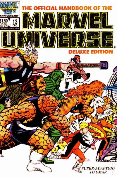 Official Handbook Of The Marvel Universe Deluxe Edition