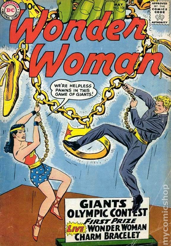 Giant girl cover comic the strip
