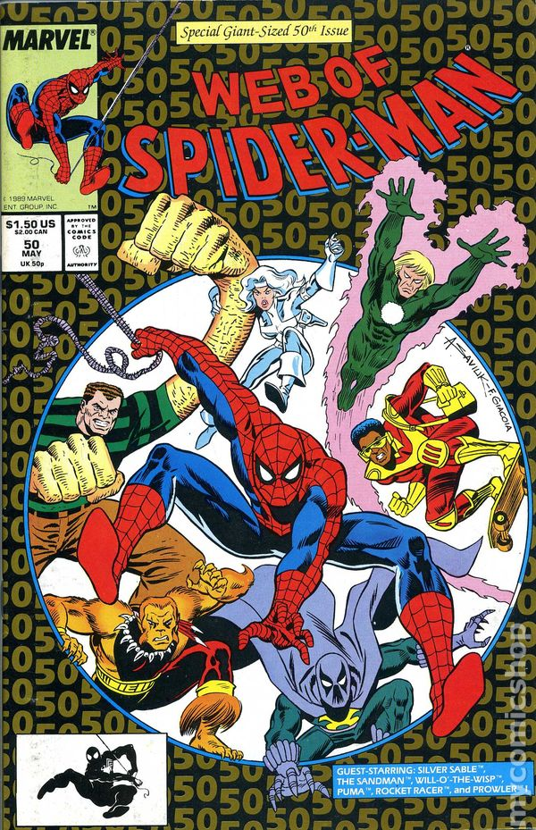 Web of Spider-Man #56 FN 1989 Stock Image