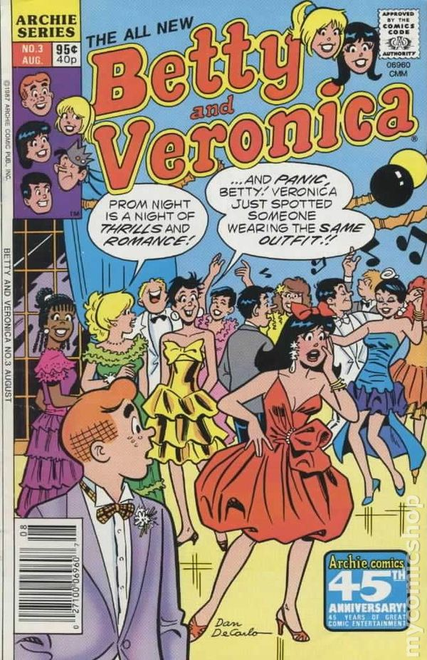 ARCHIES GIRLS: BETTY AND VERONICA 335 (Dan DeCarlo art