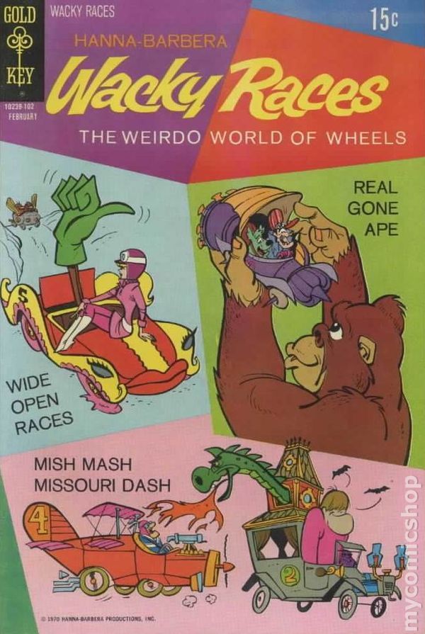 wacky races 1969 gold key comic books