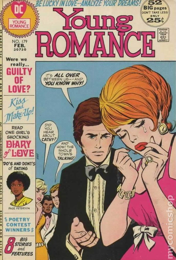 young romance comics 19631975 dc comic books