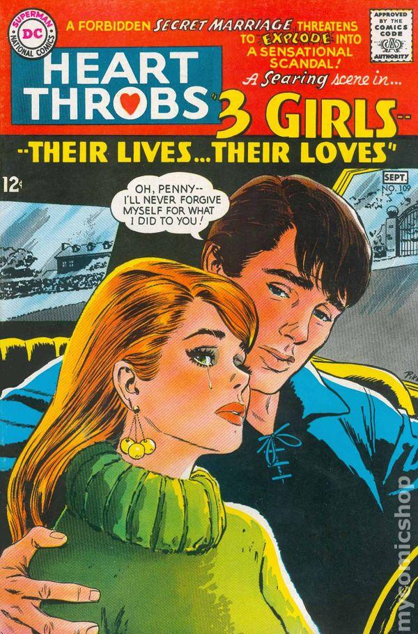 heart throbs  1949 quality  dc  comic books