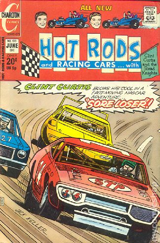 Racing In Car >> Hot Rods and Racing Cars (1951) comic books