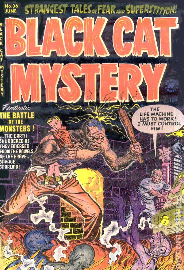 Black Cat Mystery 1951 Harvey Comic Books